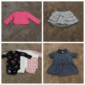 Carter's size 6 month baby girl clothes lot